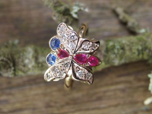 You are currently viewing Ruby, sapphire and diamond ring.